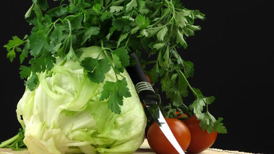 Thumbnail for Cabbage Parsley Tomato and Knife 2