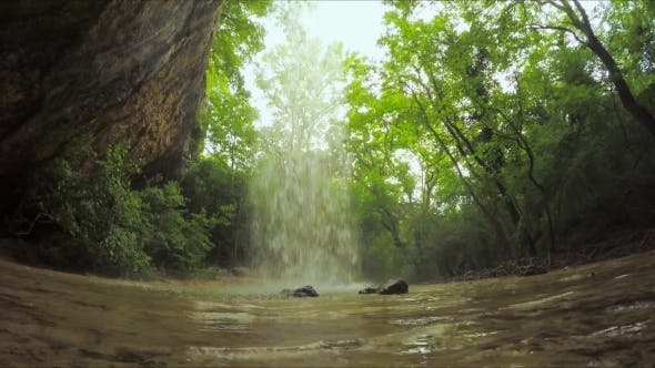 Thumbnail for Beautiful Small Waterfall In Wild Crimea Forest