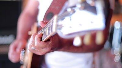 Playing Electric Guitar