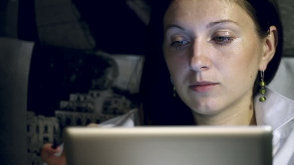 Thumbnail for Beautiful Girl With a Tablet Computer