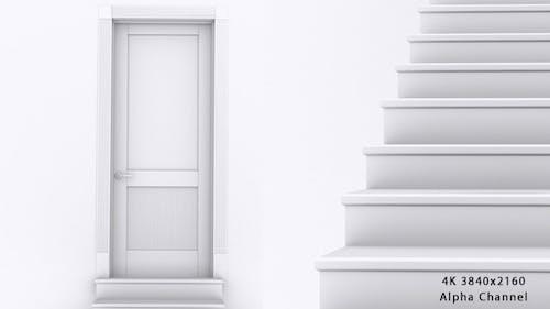 Staircase to Door Open
