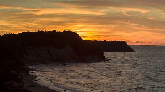 Thumbnail for Orange Sunset Over the Bay