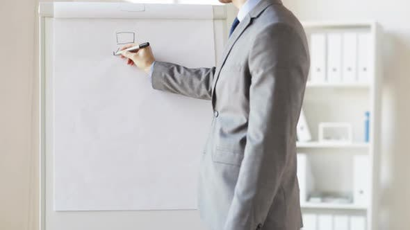 Thumbnail for Close Up Of Man Drawing Business Scheme At Office 1