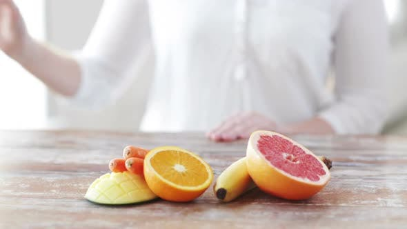 Thumbnail for Close Up Of Woman Hands With Juice And Fruits 2