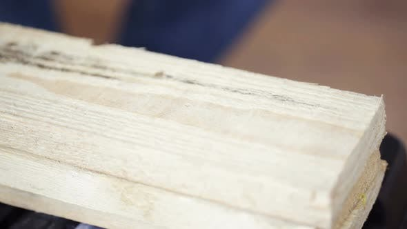Thumbnail for Close Up Of Man Hammering Nail To Wooden Board 7