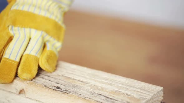 Thumbnail for Close Up Of Man Hammering Nail To Wooden Board 8