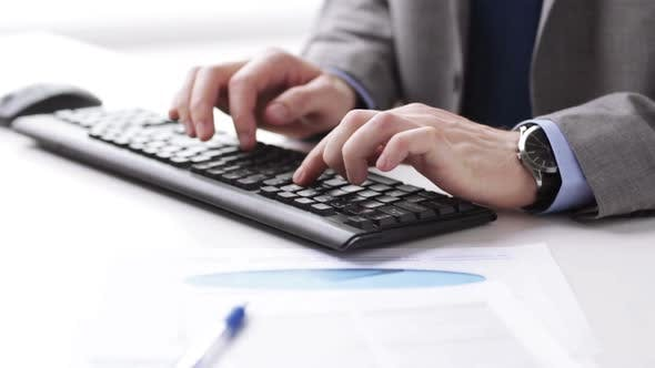 Thumbnail for Close Up Of Businessman Hands Typing On Keyboard 15