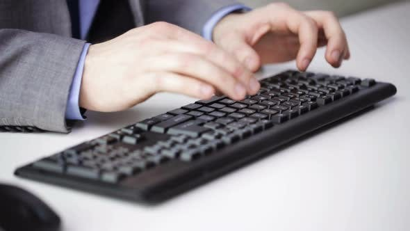Cover Image for Close Up Of Businessman Hands Typing On Keyboard 19