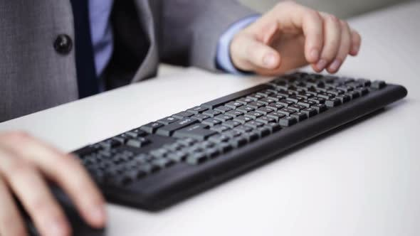 Thumbnail for Close Up Of Businessman Hands Typing On Keyboard 21