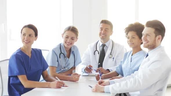 Thumbnail for Group Of Doctors Meeting At Seminar In Hospital 1