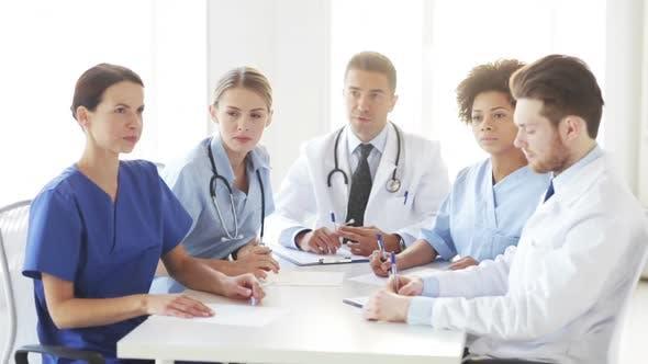 Thumbnail for Group Of Doctors Meeting At Seminar In Hospital 6