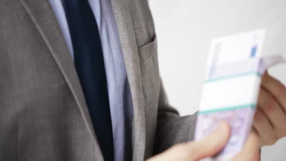 Thumbnail for Close Up Of Businessman Taking Money Bribe 7