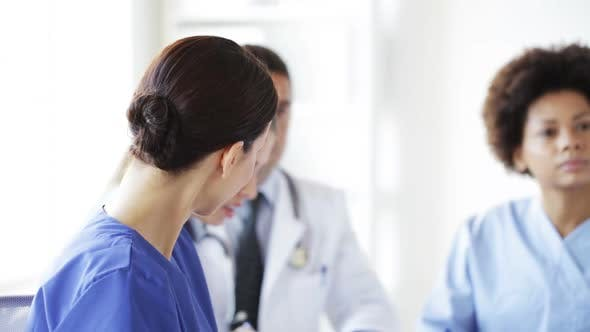 Cover Image for Group Of Meeting At Seminar In Hospital