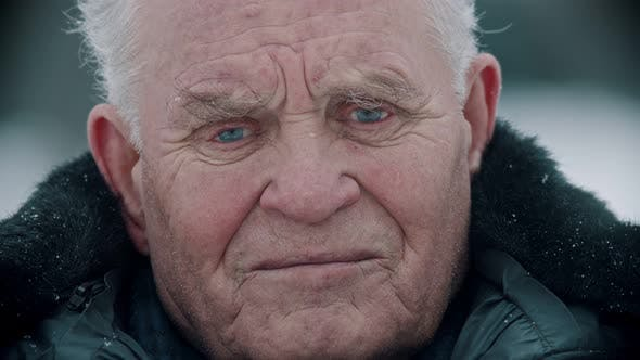 Thumbnail for Elderly Grandfather - Portrait of Smiling Old Grandfather at the Camera