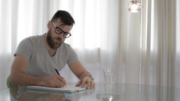 Thumbnail for Man Writing