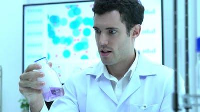 Scientist compound bottle chemicals