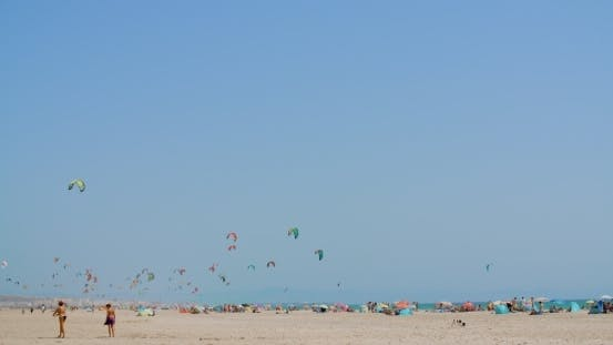 Thumbnail for Crowdy Beach With Kite Surfers