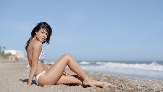 Thumbnail for Gorgeous Shapely Young Woman In a Bikini
