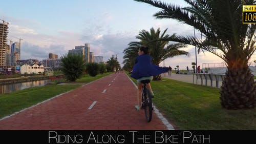 Riding Along The Bike Path