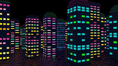 Colorful City Night