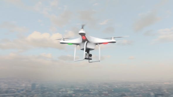 Thumbnail for Small UAV Drone Flying in City