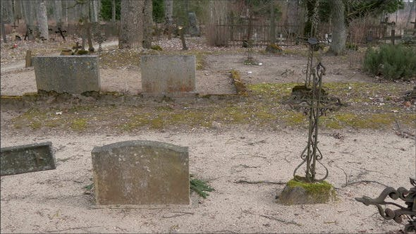 Thumbnail for Tombstones and Gravestones Inside the Old Cemetery