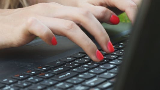 Thumbnail for Girl Typing on a Laptop