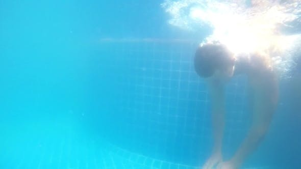 Thumbnail for Man Floats Underwater In Swimming Pool
