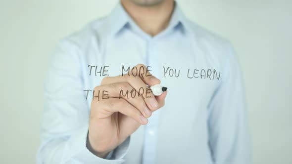 Thumbnail for The More You Learn The More You Earn, Writing On Screen