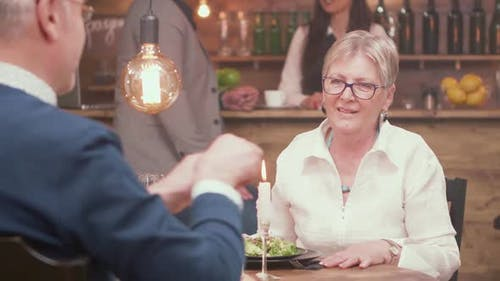 Senior Woman Gets Very Emotional When Her Partner Makes a Marriage Proposal