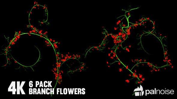 Thumbnail for Flower Rose Branch (6-Pack)
