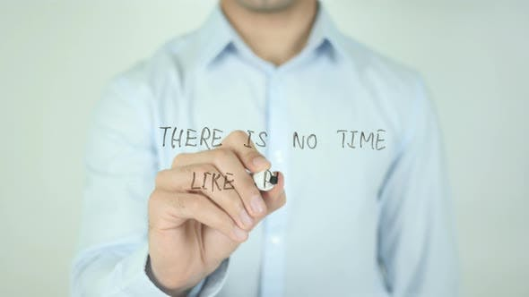 Thumbnail for There Is No Time Like the Present, Writing On Screen