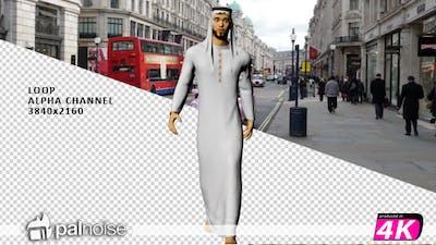 Arab Man Walking