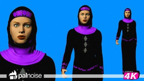 Arabic Woman Walking
