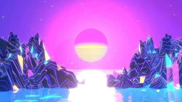 Thumbnail for Neon Sunset Landscape