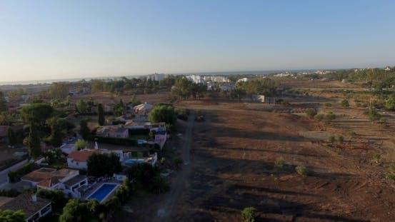 Luftbild. Flug über Land In Andalusien