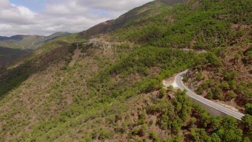 Antenne. Schöne Aussicht Auf Spanische Berge