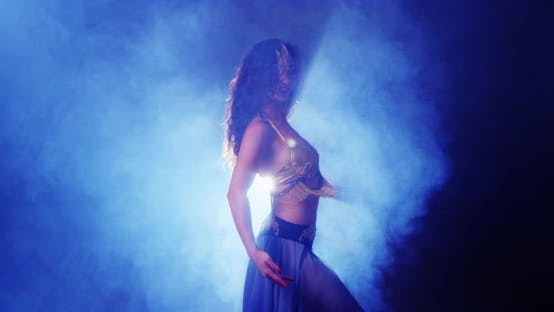 Thumbnail for Argentinian woman belly dancing in studio