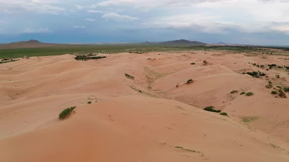 Thumbnail for Sunset Over the Sand Dunes in the Desert