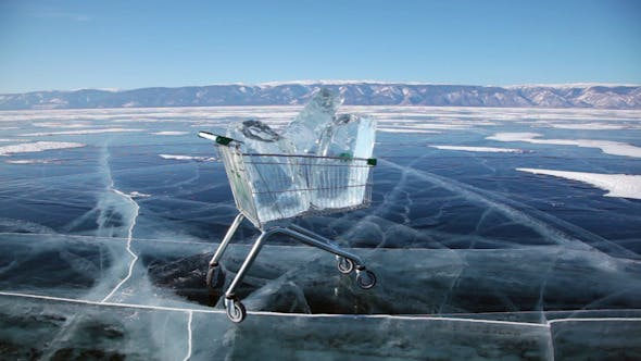 Thumbnail for Shopping Cart With Ice Cubes 3398