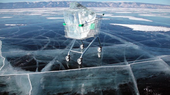Thumbnail for Shopping Cart With Ice Cubes 3417