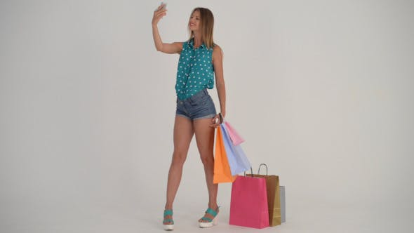 Cover Image for Shopping Girl Taking Selfiie