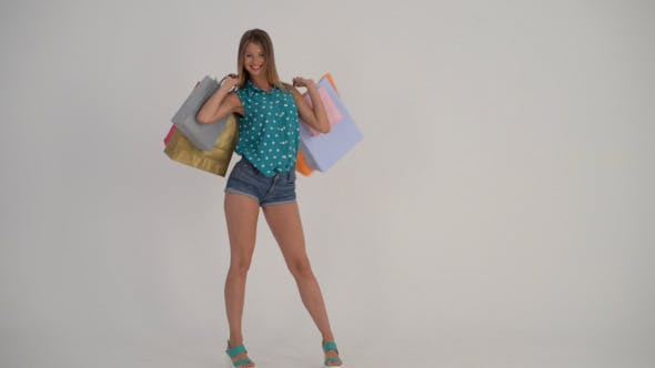 Cover Image for Happy Shopping Girl