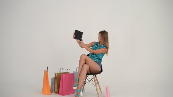 Thumbnail for Girl Taking Selfie with Tablet