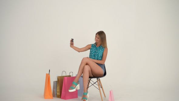 Thumbnail for Girl Taking Selfie with Smartphone