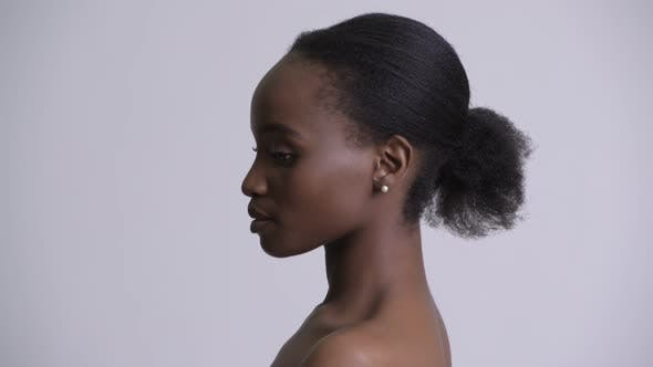 Thumbnail for Face of Young Beautiful African Woman Shirtless As Beauty Concept