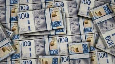 Swedish Krone money banknotes