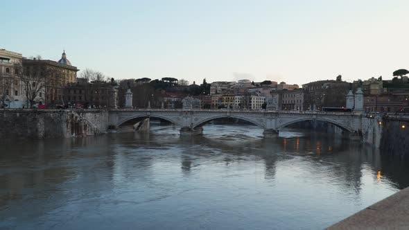 Thumbnail for The Bridge of Victor Emmanuel II Rome Italy