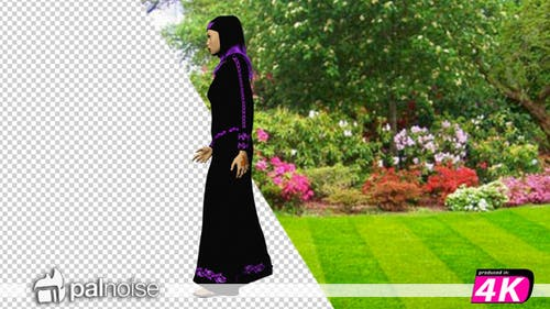 Arabic Woman Walking v2
