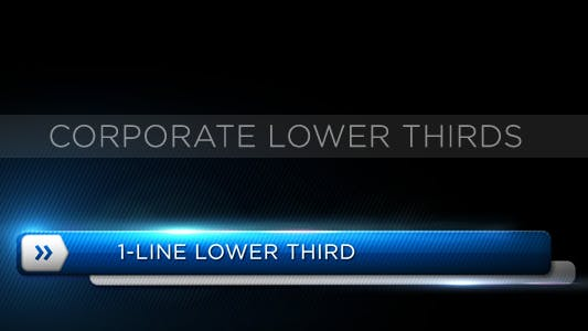 Thumbnail for Corporate Lower Third
